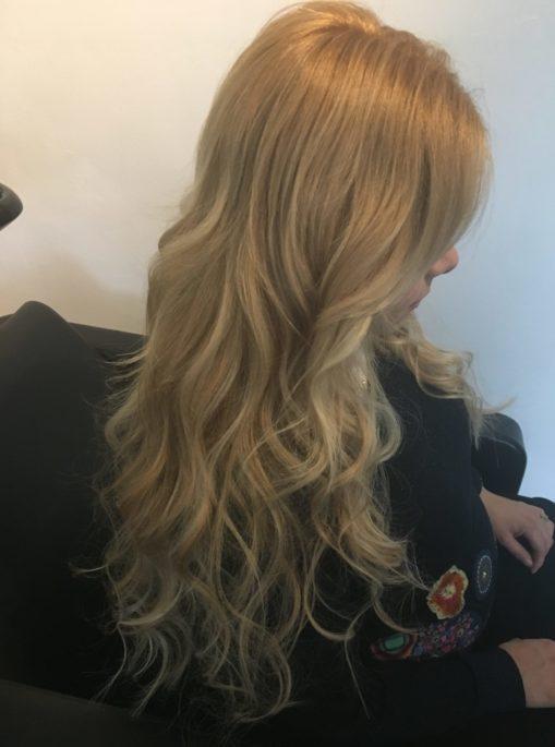 hairextensions na het plaatsen 50 cm 160 stuks
